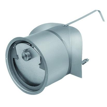 130mm-es füstcsőre szerelhető kéményhuzat szabályozó.