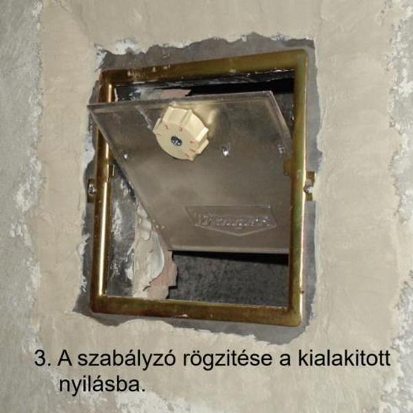 A beépített kéményhuzat szabályozó.