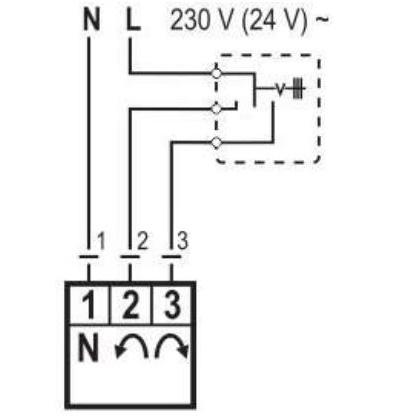 A motoros keverőszelep meghajtómotorjának 3 pontos bekötése