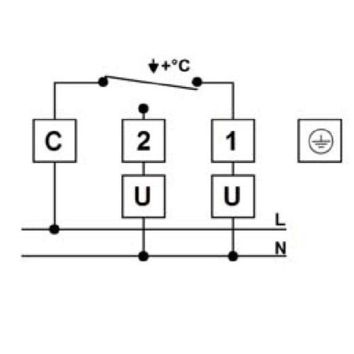 A merűlőtermosztát elektromos bekötése