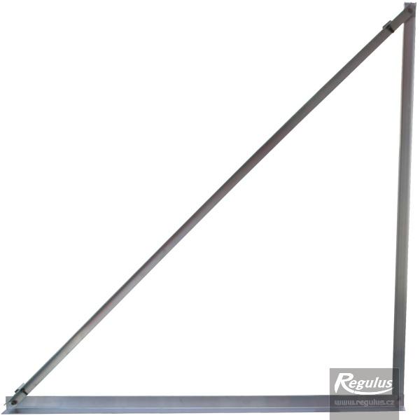 Szerelőkeret napkollektorok lapostetőre / talajra szereléséhez, 45°