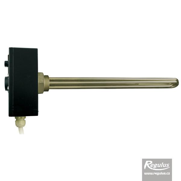 Nikelezett felületű 7,5kW-os elektromos fűtőszál termosztatikus fejjel.