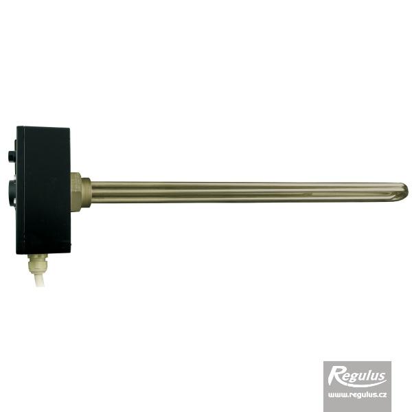 Nikelezett felületű 9kW-os elektromos fűtőszál termosztatikus fejjel.