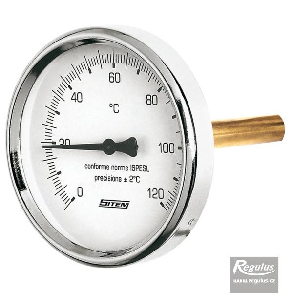 Hőmérsékletmérő merülőhüvellyel, 0-120°C, 1/2'KM, d=63mm, l=45mm.