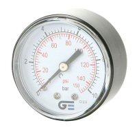 Nyomásmérő óra, hátsó bekötésű, 0-4 bar, G1/4