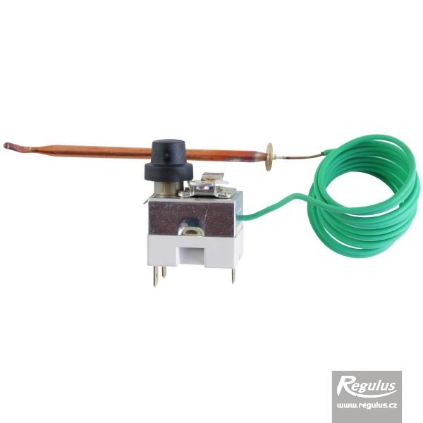 Állítható korlátozó termosztát kapilláris érzékelővel, l=1500 mm, 63 - 90°C.