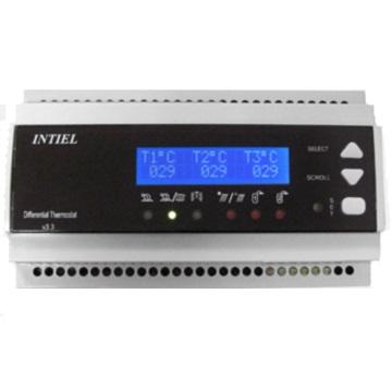 DT-3.3 Digitális vezérlőegység 3 bemenettel, 3db PT 1000 szenzorral. DIN sinre szerelhető.