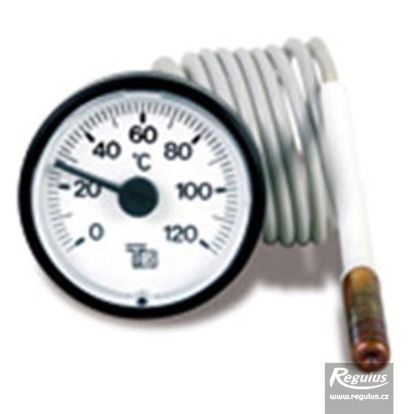 Hőmérsékletmérő kapilláris érzékelővel 0-120°C, d=57,5mm, l=1000mm.
