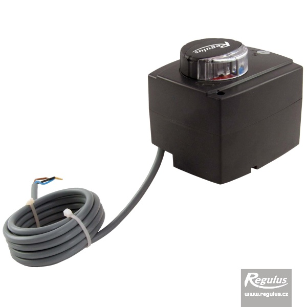 230V aktuátor keverőszelephez 2m kábellel, 60s, 5Nm.