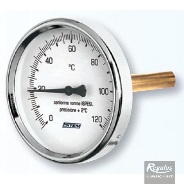 Hőmérsékletmérő merülőhüvellyel, 0-120°C, 1/2'KM, d=63mm, l=140mm.