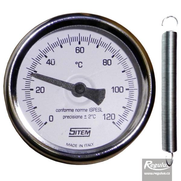 SITEM Kontakt hőmérő, 0-120°C, d=63mm.