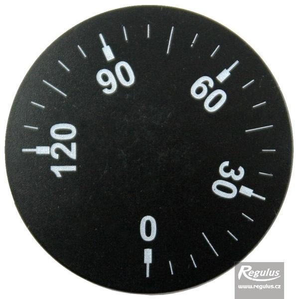 Állítógomb beépíthető termosztáthoz, 0-120°C.