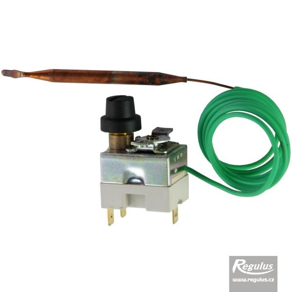 Állítható korlátozó termosztát kapilláris érzékelővel, l=1000 mm, 90 - 110°C.