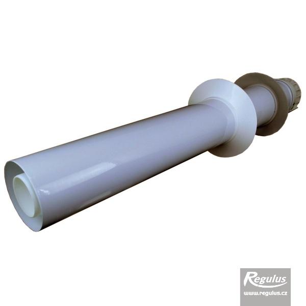 Vízszintes fali kivezetőelem, 0,86m, műanyag takarólemezzel, 60/100 PP (A2008004).
