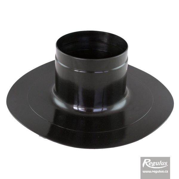 Tetőkivezető elem lapostetőhöz, 125 mm, fekete (A5025001).