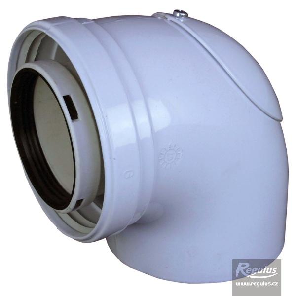 90° könyök ellenőrző nyílással, 80/125 PP (A2006048).