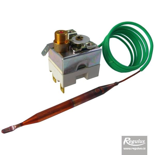 Állítható korlátozó termosztát kapilláris érzékelővel, aranyozott kontaktussal, l=1000 mm, 90 - 110°C.