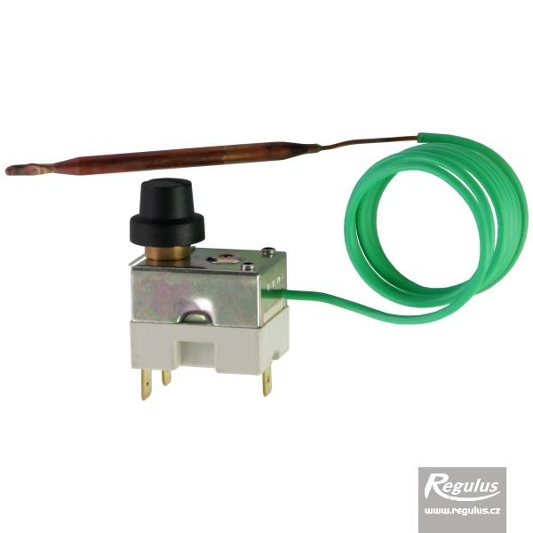 Korlátozó (biztonsági) termosztát kapilláris érzékelővel, aranyozott kontaktussal, l=1000 mm, fix 140°C.