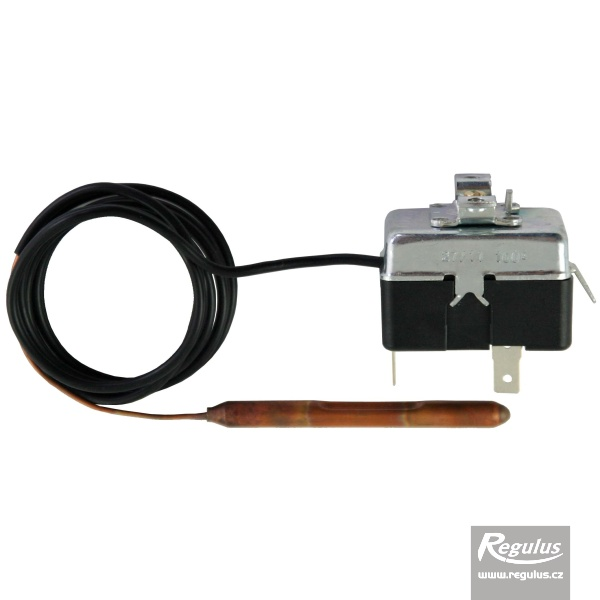 Korlátozó (biztonsági) termosztát kapilláris érzékelővel, l=1000 mm, fix 100°C.