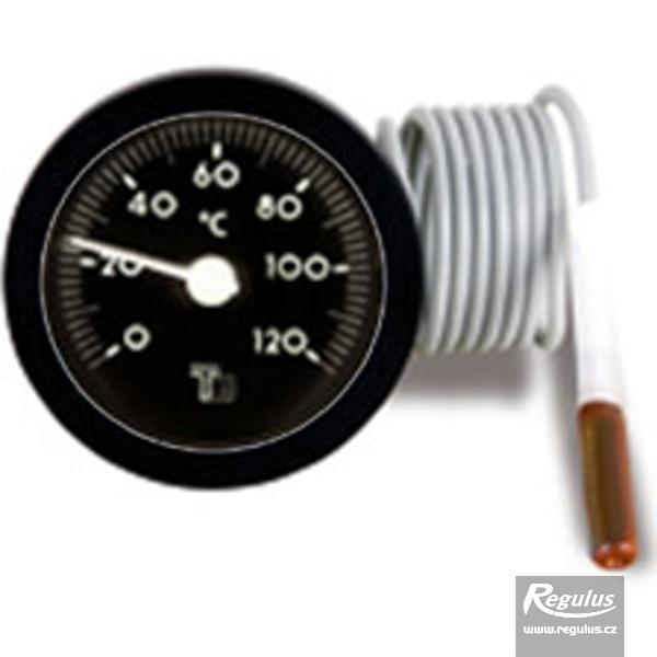 Hőmérsékletmérő kapilláris érzékelővel (0-120°C, d=57,5mm, l=1000mm).
