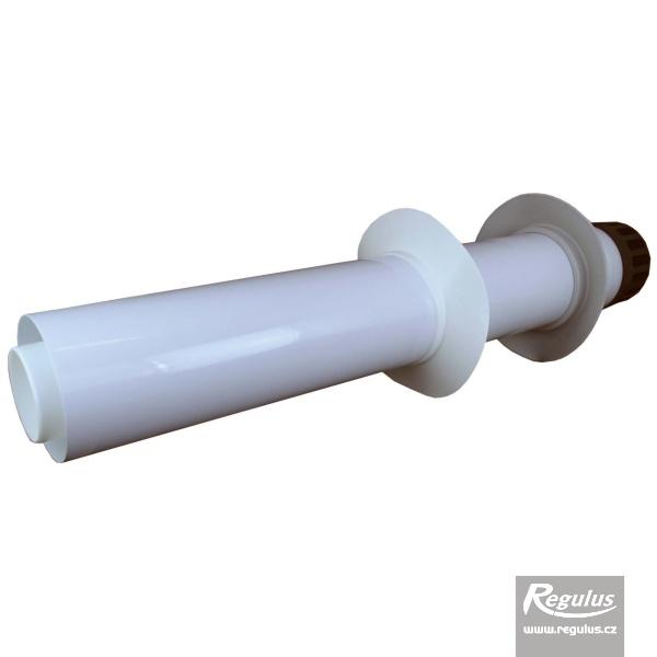 Vízszintes fali kivezetőelem, 80/125 PP, 0.9 m (A2010012).