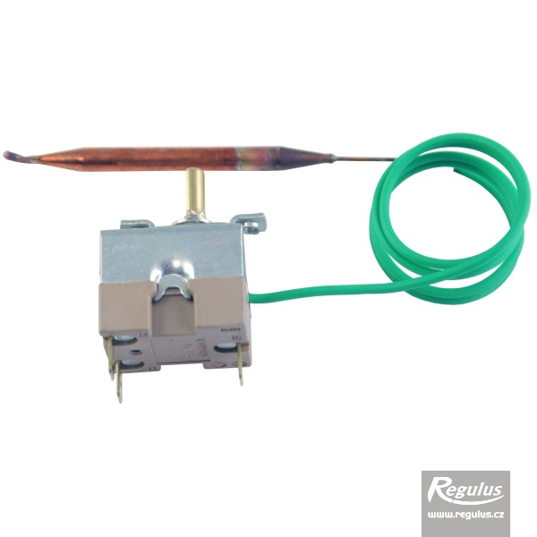 Beépíthető, állítható termosztát kapilláris érzékelővel. l=0.55 m, 0-90°C.
