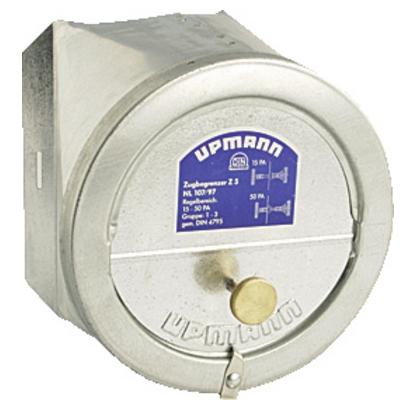 Z 5 rozsdamentes acél kéményhuzat szabályozó 110-200 mm füstcsőátmérőre.