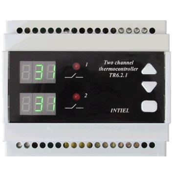 TR-6.2.1 Kétzónás hőmérsékletszabályzó vezérlőegység.