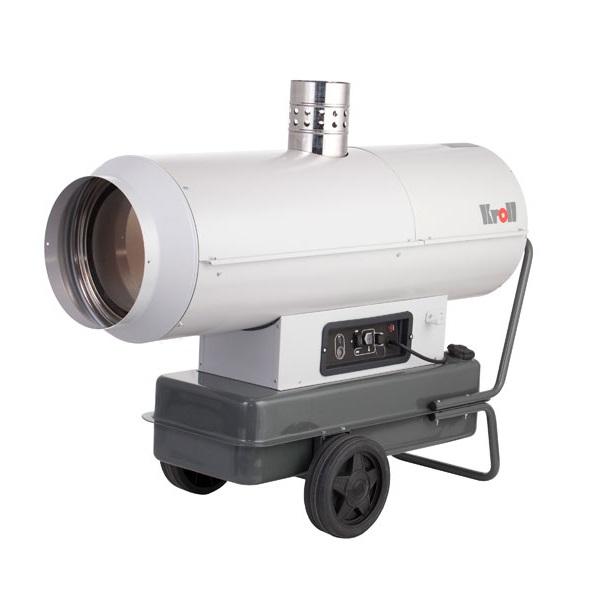MA22 KROLL mobil gázolajos hőlégbefúvó füstgázkivezetővel.
